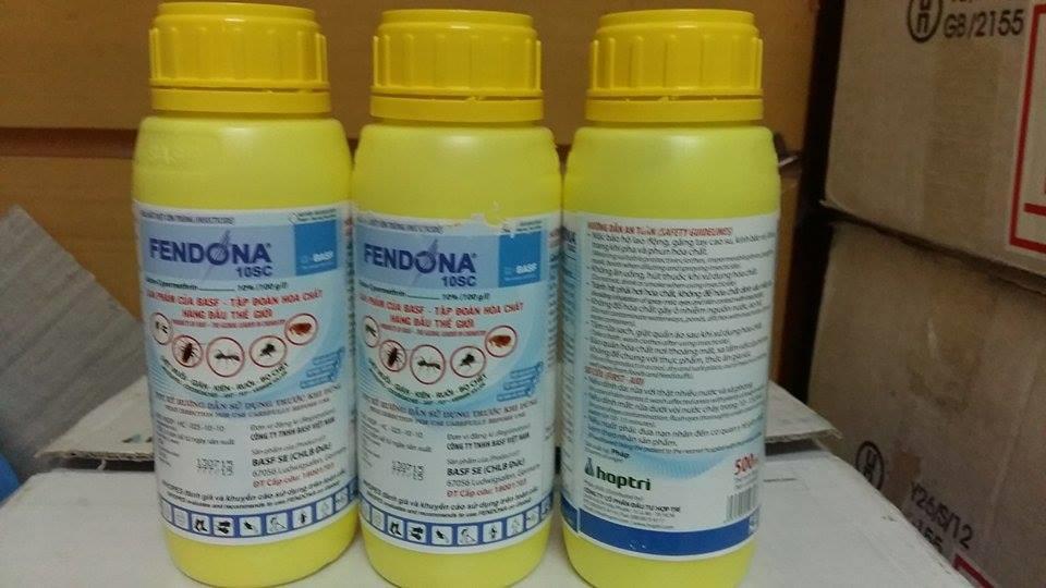 Fendona 10SC có khả năng tiêu diện con giời leo và côn trùng rất tốt