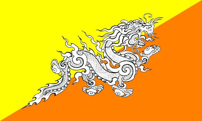 Quốc kỳ của Bhutan có hình con rồng